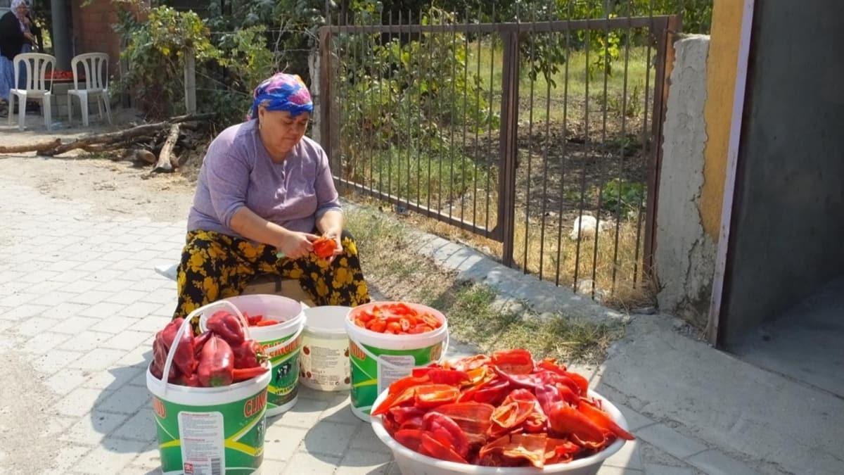 Balıkesirli kadınlardan domates ve biber salçası tarifi