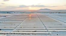 Karapınar GES'te elektrik üretimi başladı