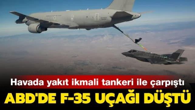 ABD Hava Kuvvetleri'ne ait bir F-35B tipi savaş uçağı düştü