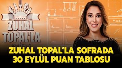 Zuhal Topal'la Sofrada puan durumu belli oldu! Zuhal Topal'la Sofra 30 Eylül 2020 puan tablosu