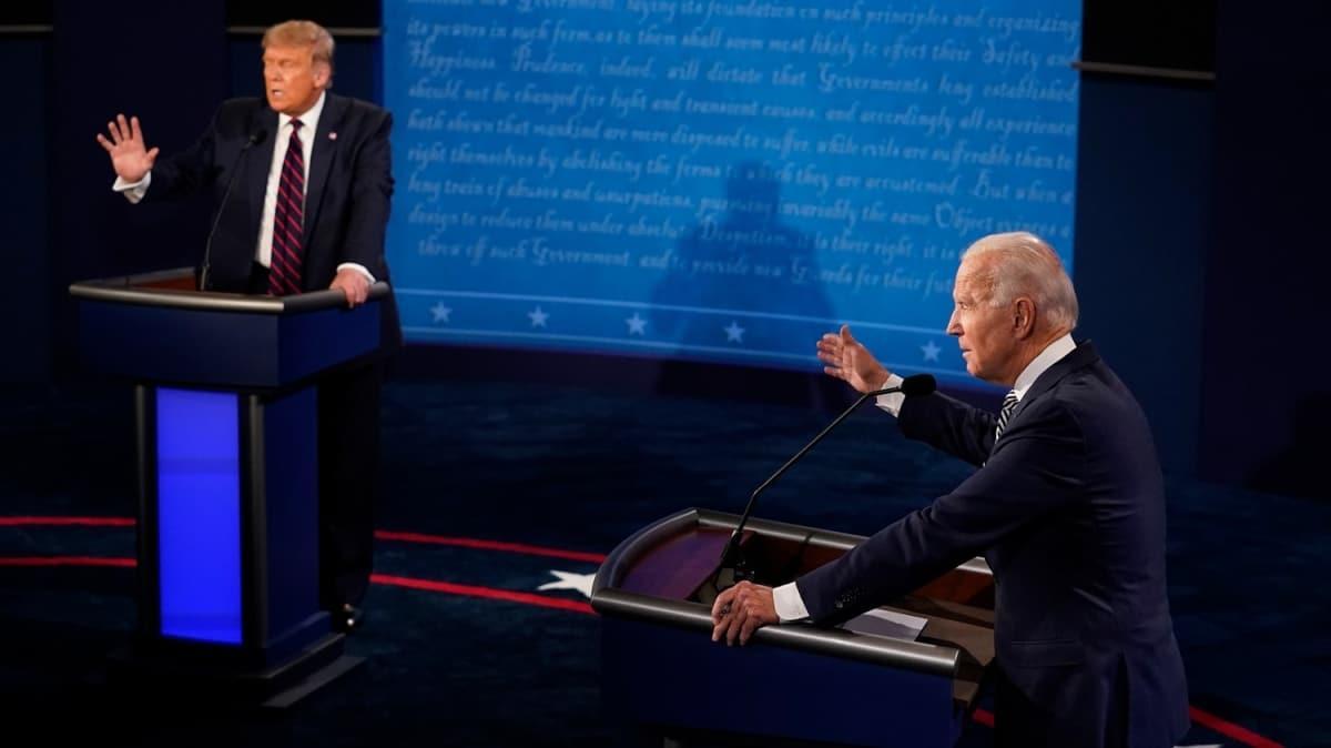 ABD'de başkan adayları Trump ile Biden karşı karşıya geldi!