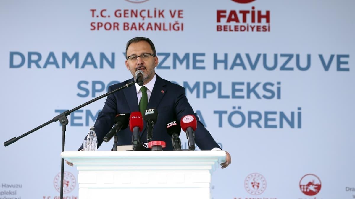Bakan Kasapoğlu, dev kompleksin temel atma törenine katıldı
