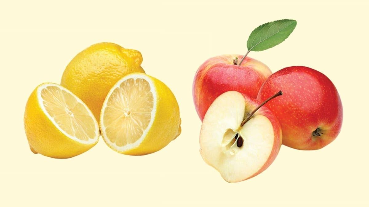 Elma ve limonla bağırsaklar temizleniyor