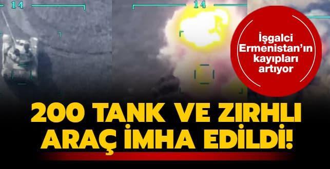 Azerbaycan Savunma Bakanlığı duyurdu... İşgalci Ermenistan'ın 200 tank ve zırhlı aracı imha edildi!