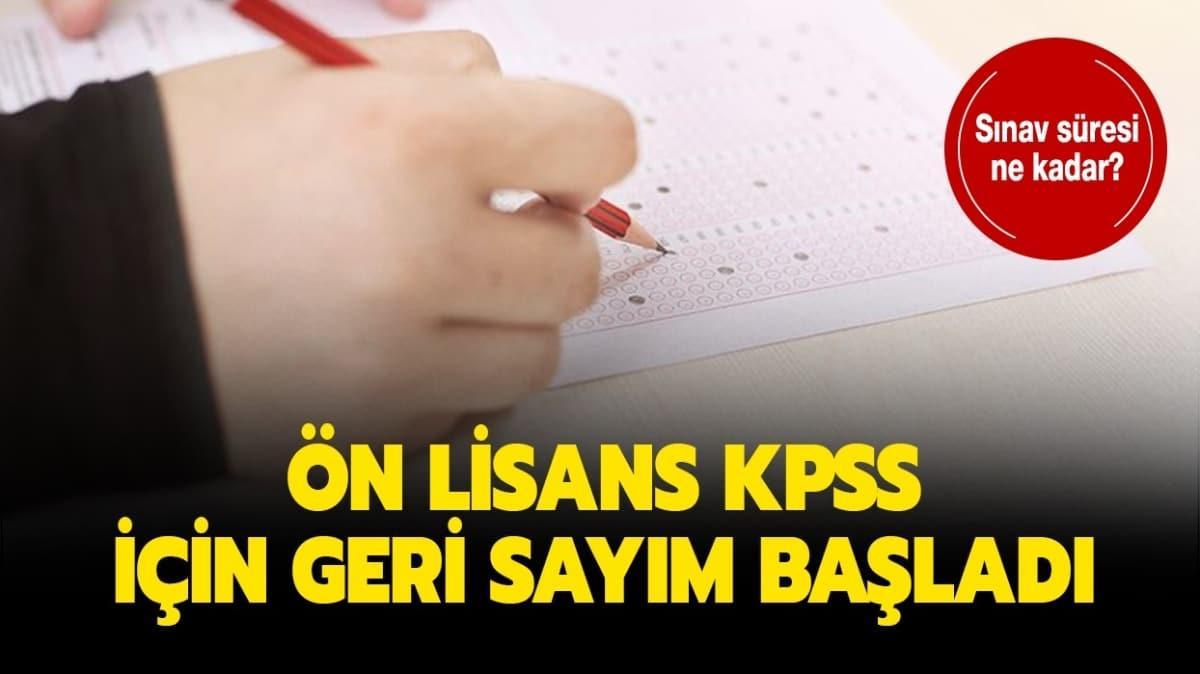 """Ön lisans KPSS sınavı ne zaman yapılacak"""" KPSS ön lisans sınav süresi ne kadar, kaç dakika"""""""