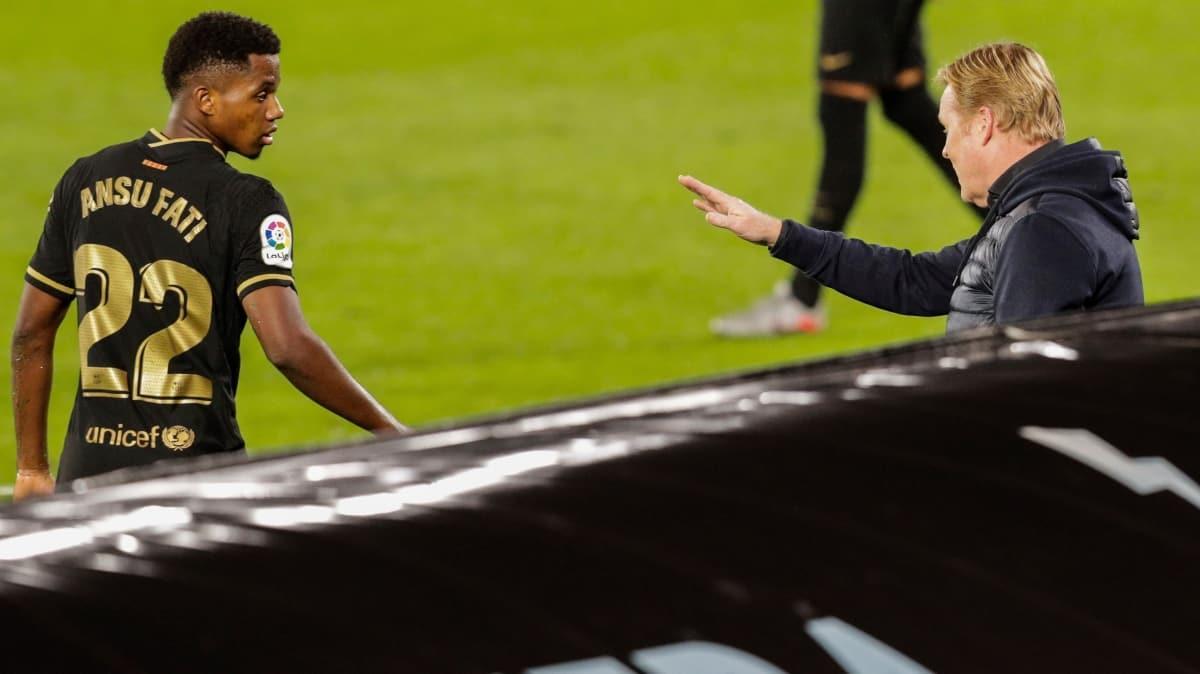 17'lik Ansu Fati attı; Barça yine kazandı