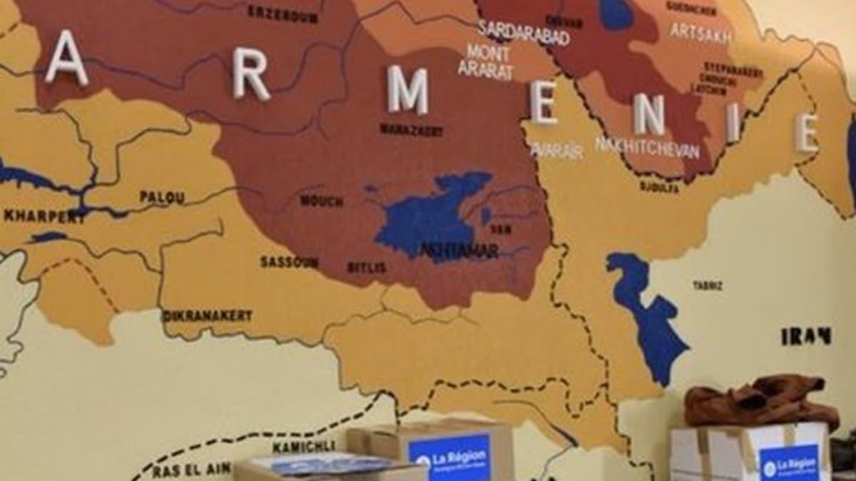 Fransız başkandan haddini aşan paylaşım: Türkiye'nin doğusu, Batı Ermenistan olarak gösterildi