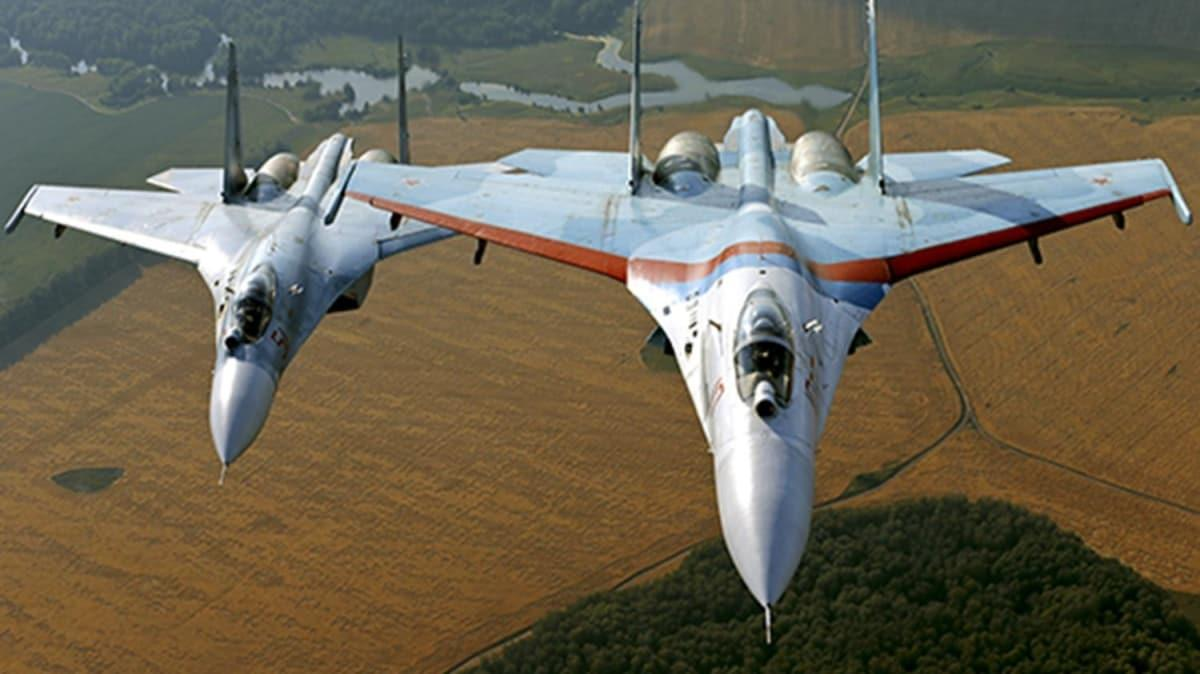 Rus Su-27 ve Eurofighter karşı karşıya geldi