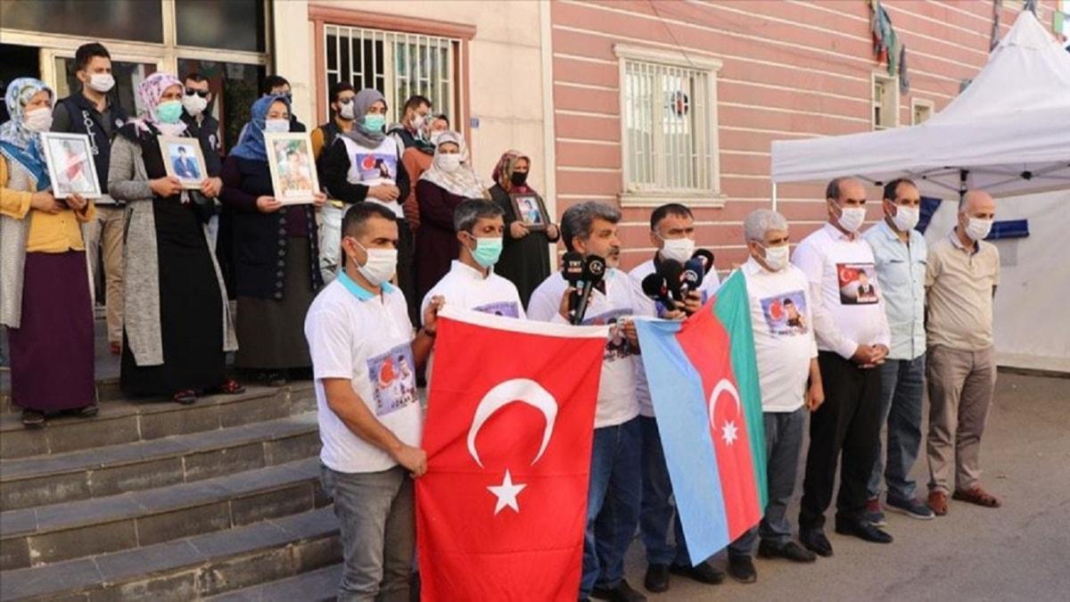 Evlat nöbetini sürdüren Diyarbakır annelerinden Azerbaycan'a destek