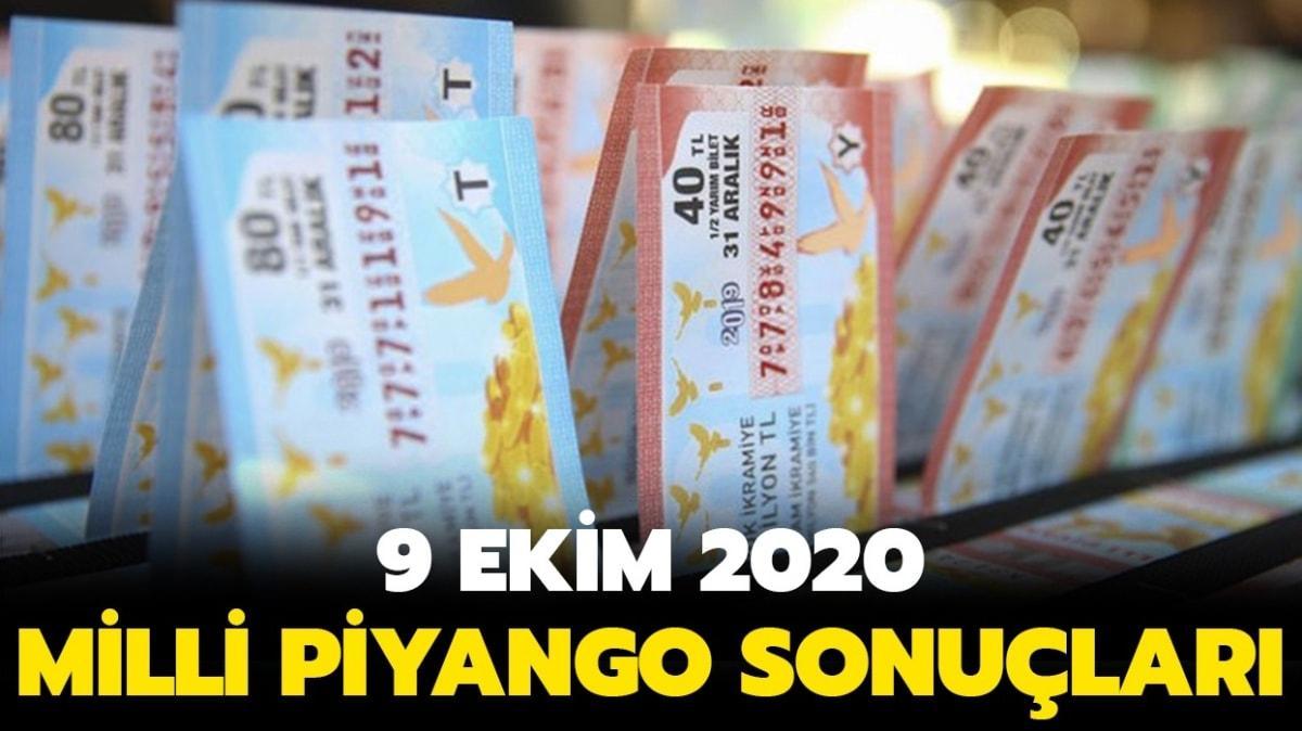 MPİ çekiliş sonuçları 9 Ekim 2020 sorgulama ekranı: Milli Piyango sonuçları sıralı tam liste yayınlandı!