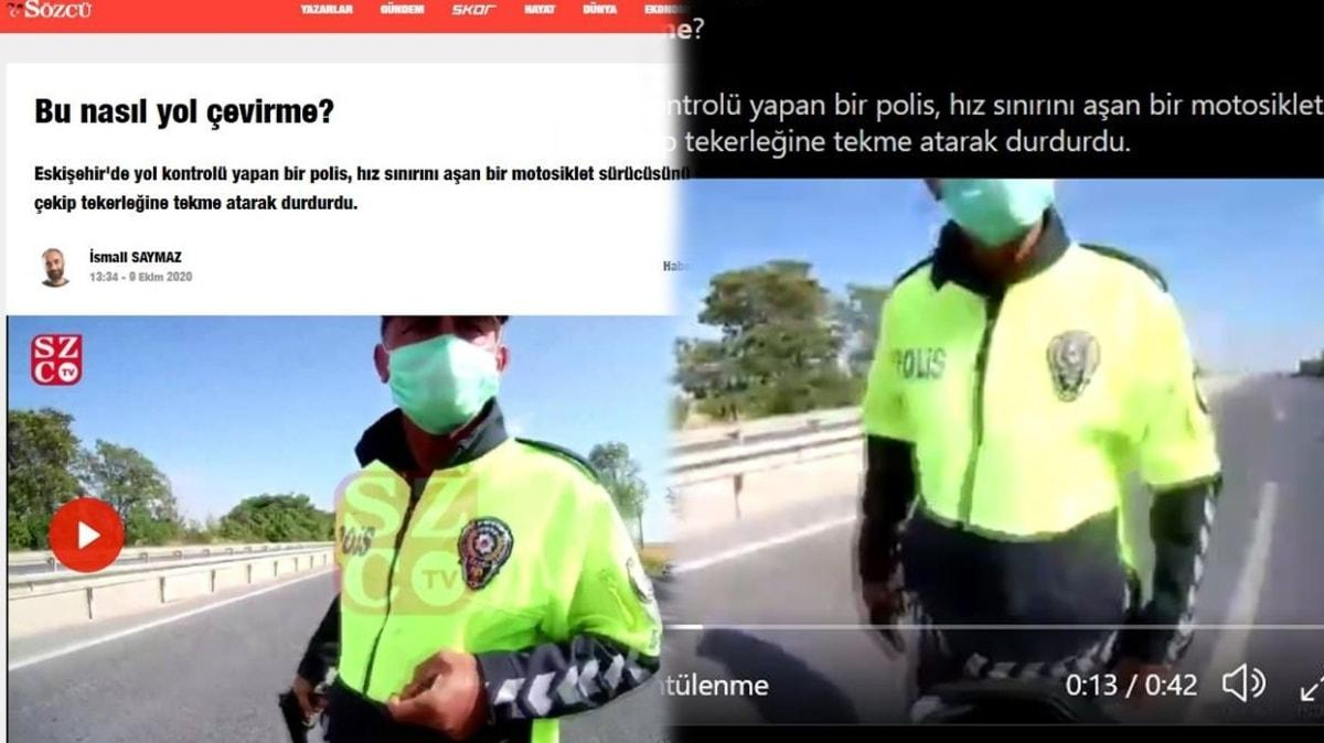 Sözcü Gazetesi ve İsmail Saymaz'ın polisi karalamak için yaydıkları haber yalan çıktı!