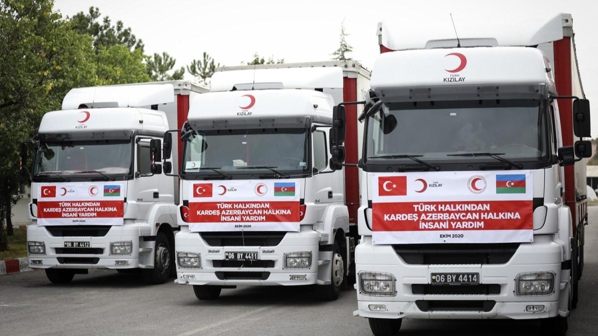 Azerbaycan'a ilk insanı yardım konvoyu yola çıktı: Türk Kızılayı bölge halkına ulaştıracak