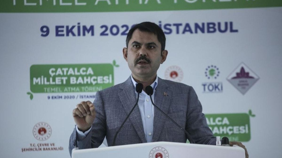 Çevre ve Şehircilik Bakanı Kurum açıkladı: 77 ilimizde 270 millet bahçesi yapıyoruz