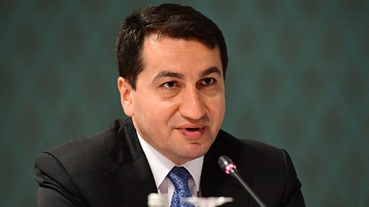 Azerbaycan Cumhurbaşkanı Yardımcısı Hacıyev'den işgalci Ermenistan'a tepki