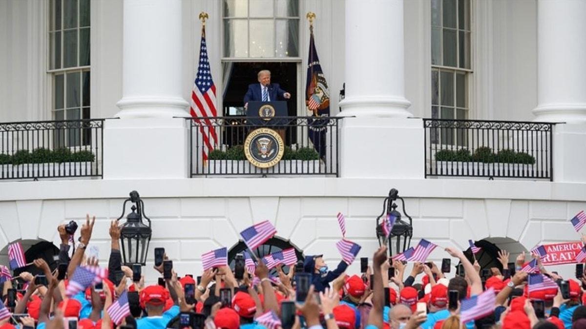 Kovid-19'a yakalanmasının ardından ilk kez kamuya açık bir etkinlikte... Trump Beyaz Saray'dan halka seslendi