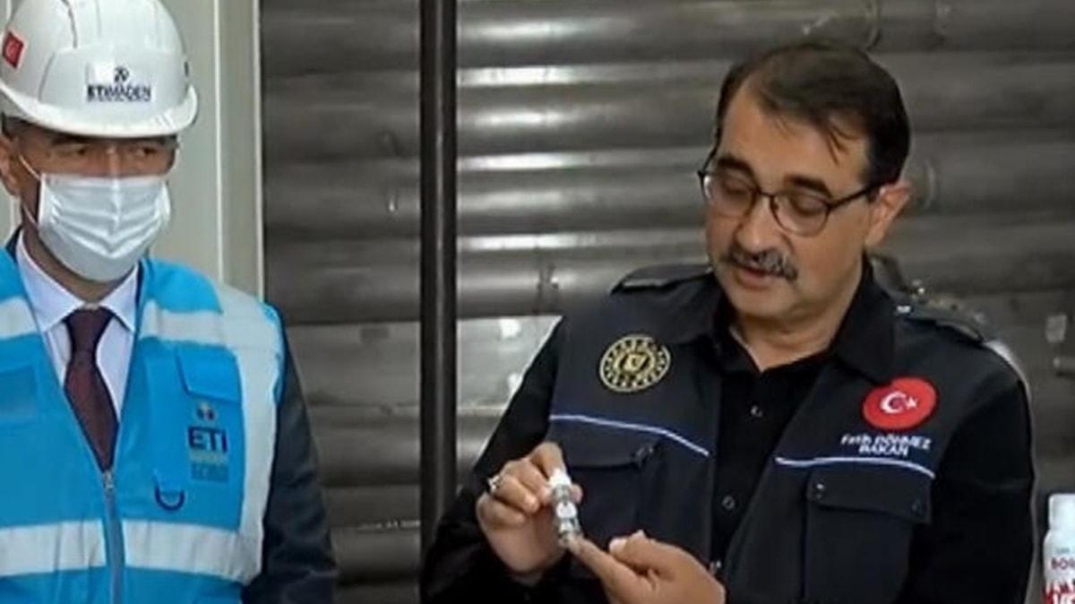 Bakan Dönmez açıkladı: Türkiye'de ilk defa lityum üretimine başlayacağız