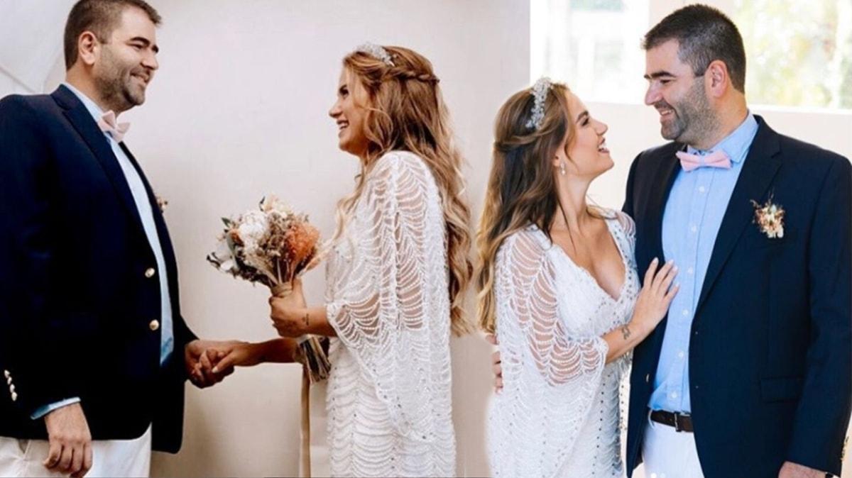Ceyda Ateş ve Buğra Toplusoy iki yılı devirdi: Sevgili kocam iyi ki varsın!