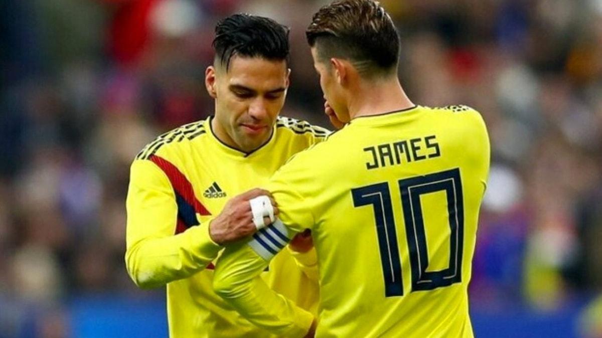 James Rodriguez: 'Falcao dünyanın en iyi golcülerinden biri'