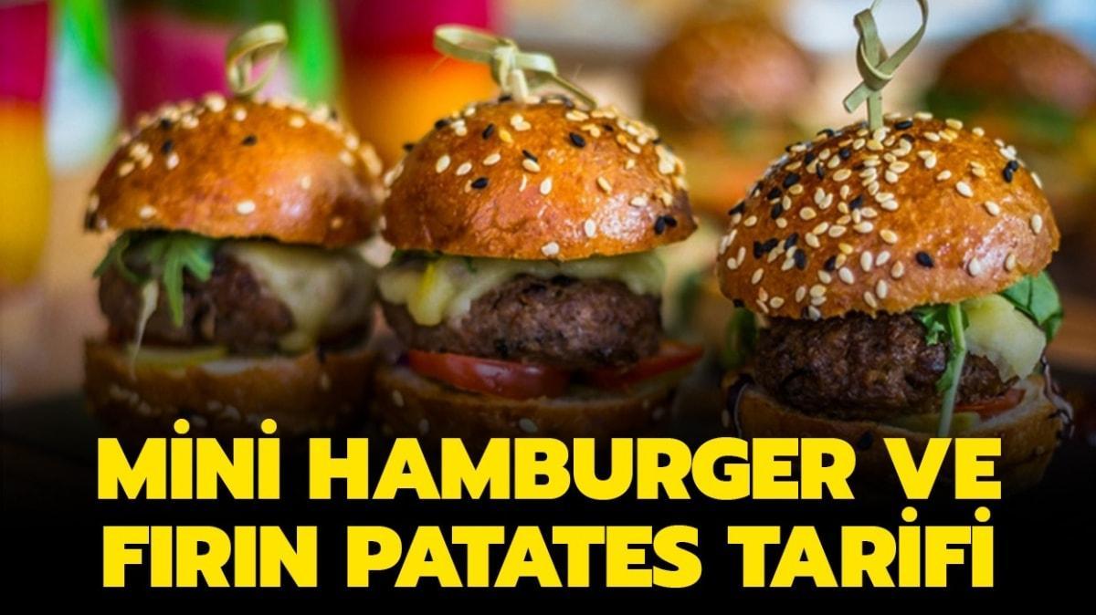 """Mini hamburger ve fırın patates nasıl yapılır"""" Gelinim Mutfakta mini hamburger ve fırın patates tarifi!"""