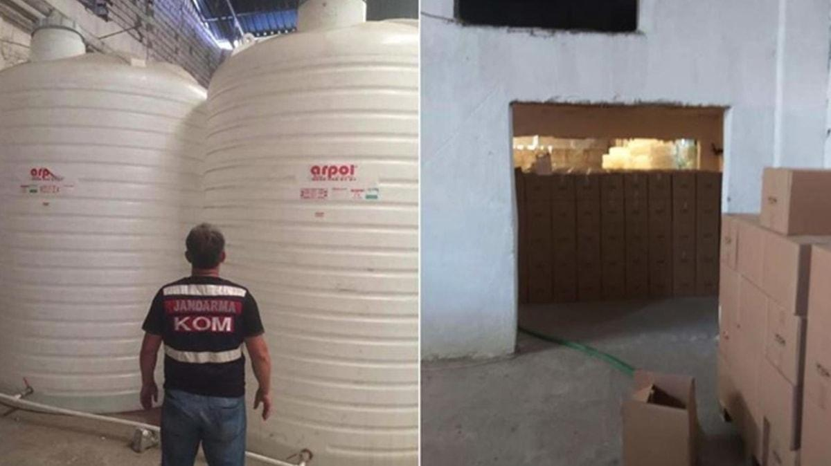İzmir'de 1,5 ayda 18 ton sahte içki ve etil alkol ele geçirildi