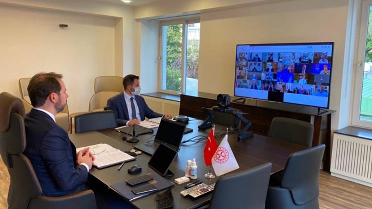 Bakan Albayrak, G-20 ülkelerinin Maliye Bakanları ve Merkez Bankası Başkanları ile görüştü