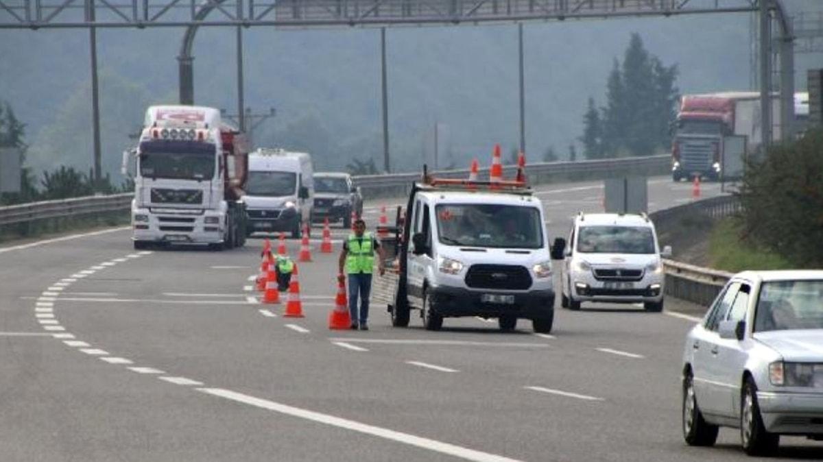 Bolu Dağı geçişi Ankara istikameti ulaşıma kapatıldı