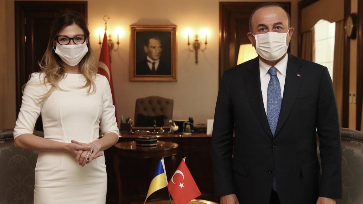 Dışişleri Bakanı Çavuşoğlu, Ukrayna Dışişleri Bakan Yardımcısı Emine Ceppar'ı kabul etti