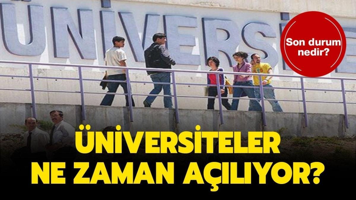 Cumhurbaşkanı Erdoğan üniversitelerde yüz yüze eğitim açıklaması!
