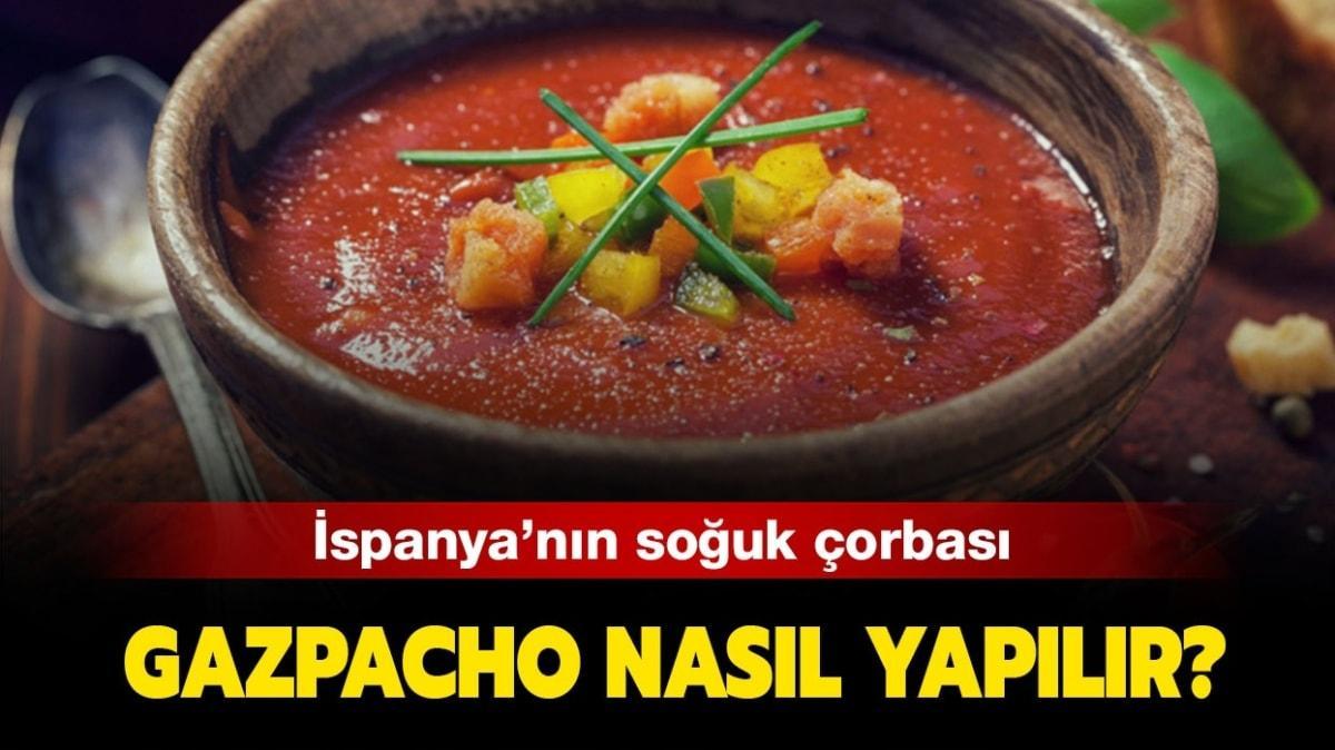 """Gazpaço Çorbası yapılışı ve malzemeleri! MasterChef Gazpacho Çorbası tarifi nasıl yapılır"""""""