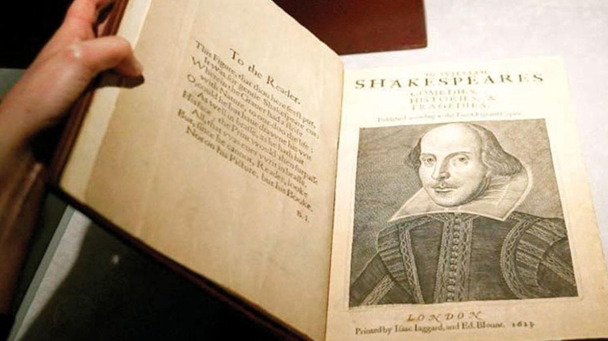 Shakespeare'in kitabı 9.8 milyon dolara satıldı