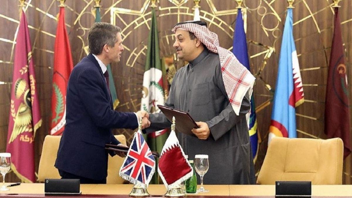 İngiltere ve Katar'dan iş birliği... Savunma alanında iyi niyet anlaşması imzalandı