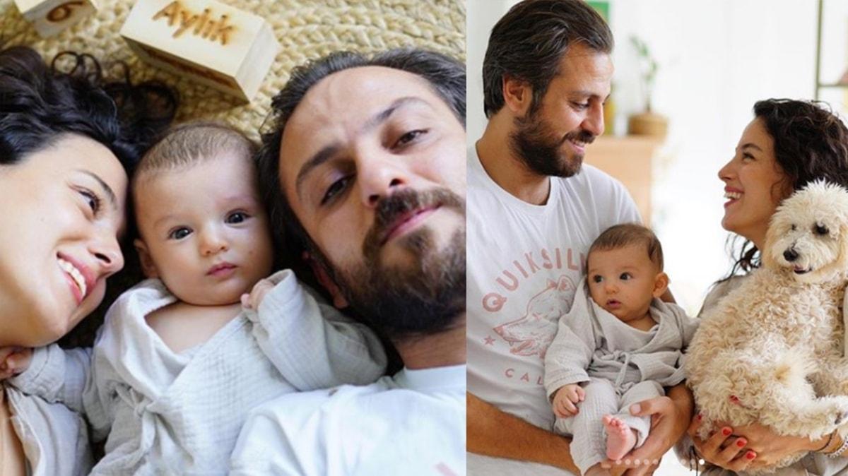 Cansu Tosun ve Erkan Kolçak Köstendil'den oğullarının Üçüncü ayına özel renkli pozlar