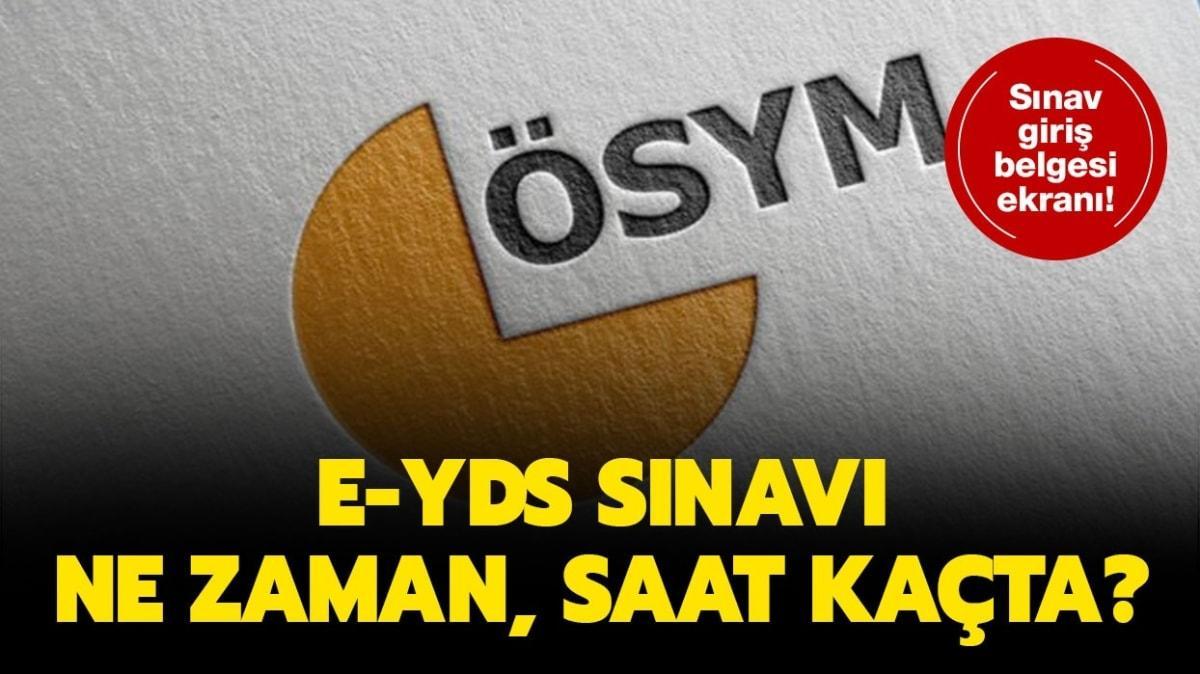 """ÖSYM e-YDS giriş belgesi ekranı! e-YDS 2020/11 İngilizce Sınavı ne zaman, saat kaçta"""""""
