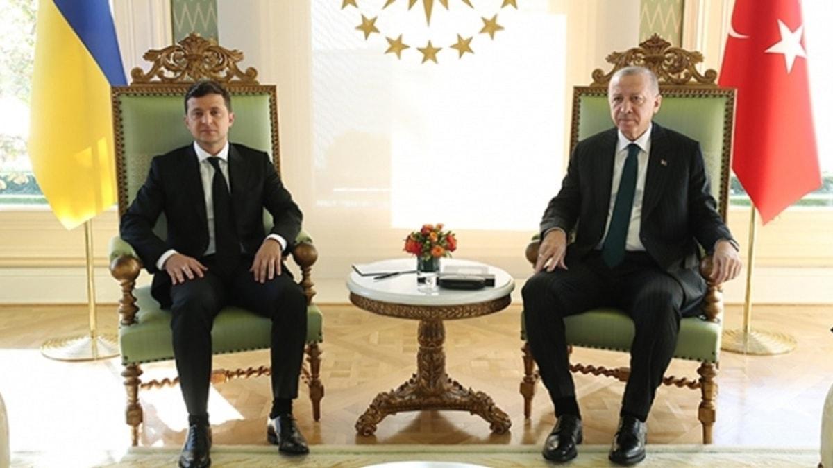 Başkan Erdoğan ile Zelenskiy görüşmesi başladı