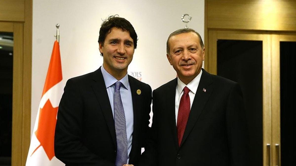 Başkan Erdoğan, Kanada Başbakanı Justin Trudeau ile telefonda görüştü