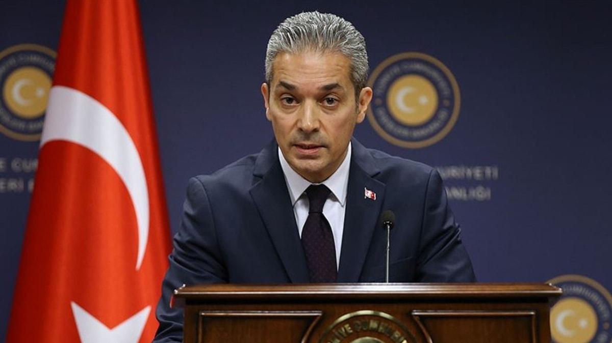 Dışişleri Bakanlığı Sözcüsü Aksoy'dan Yunan bakanın sözlerine sert tepki