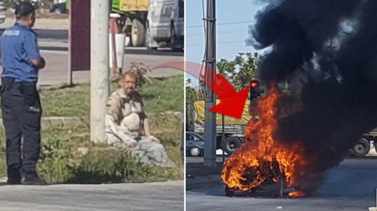 Faciaya ramak kalmıştı! Sürücü yanmaktan son anda kurtarıldı