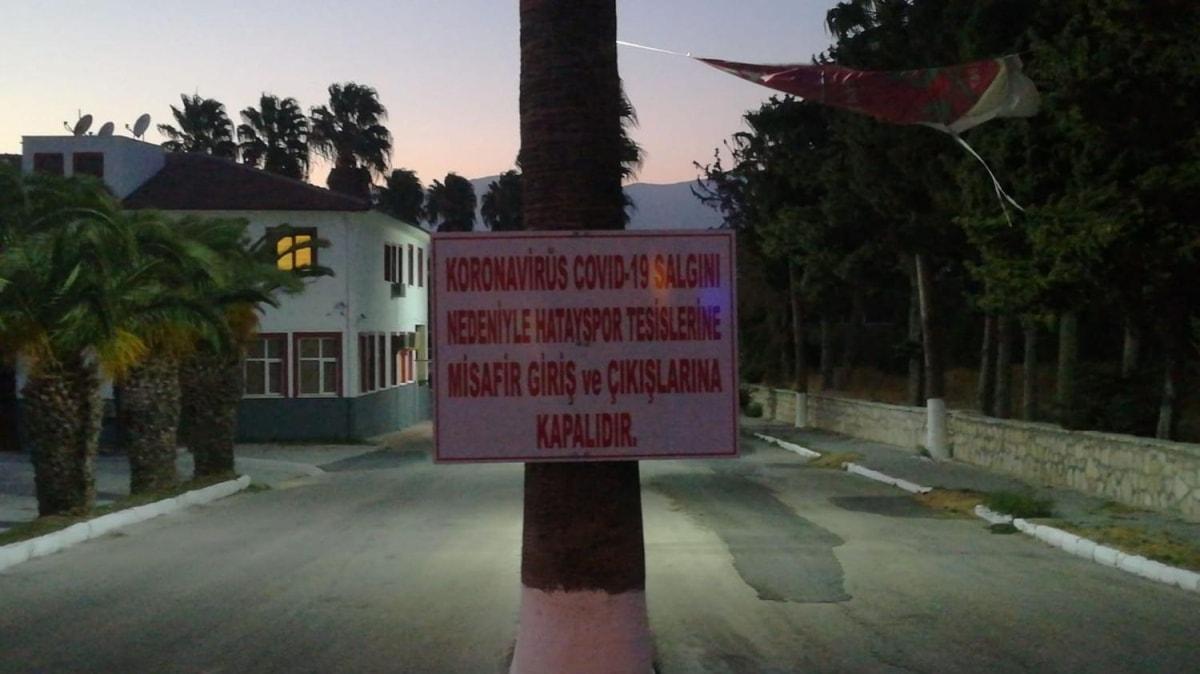 Hatayspor'da 13 kişinin koronavirüs testi pozitif çıktı