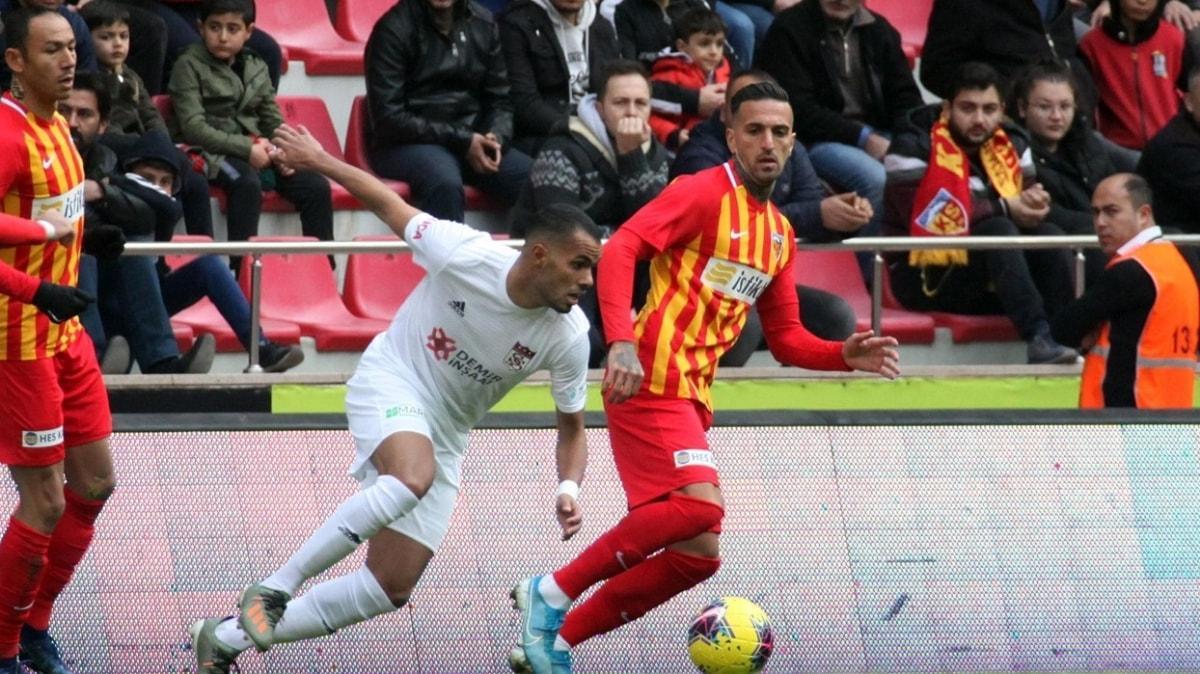 Kayserispor galibiyet sayılarında Sivasspor'a karşı üstün