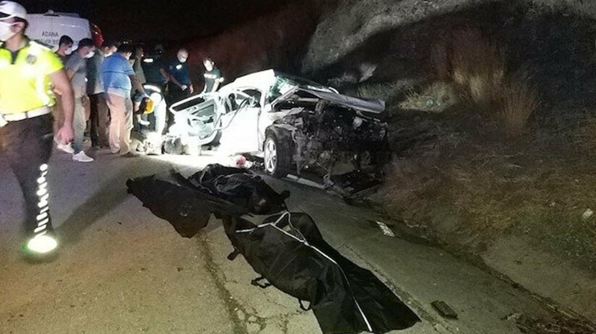 Adana'da facia gibi kaza: 4 ölü, 4 yaralı