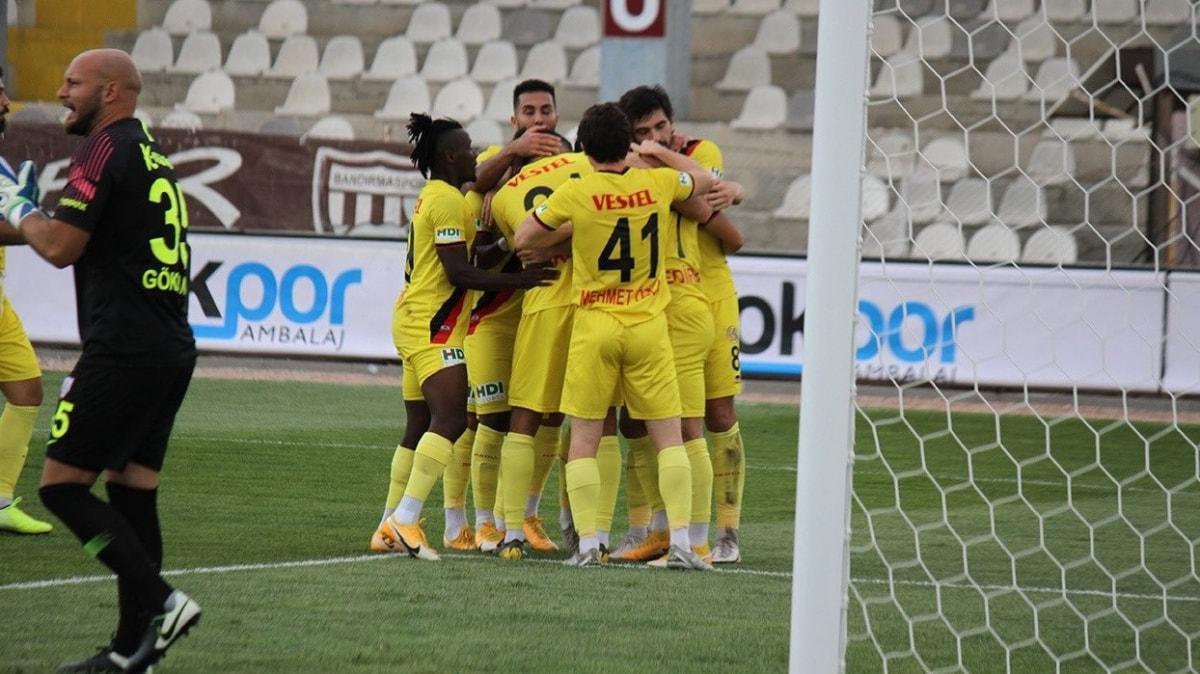 Eskişehirspor deplasmanda Bandırmaspor ile 1-1 berabere kaldı
