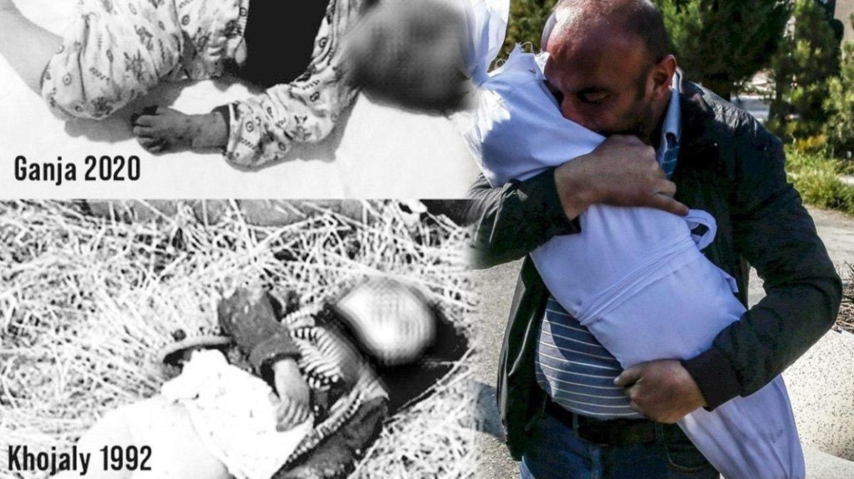 İşgalci Ermenistan sivillere saldırıyor... MSB'den katledilen bebek fotoğraflarıyla sert tepki