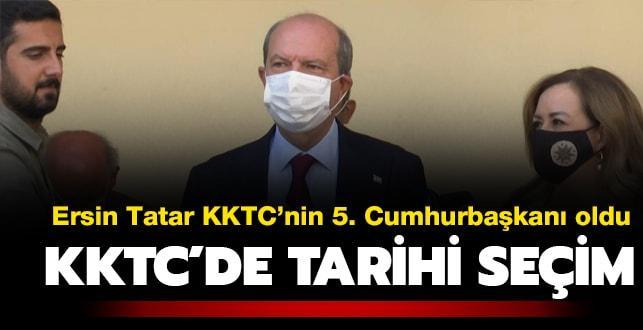 Ersin Tatar KKTC'nin 5. Cumhurbaşkanı seçildi