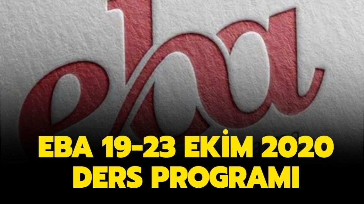 """19-23 Ekim EBA TV ders programı nasıl"""" TRT EBA ilkokul, ortaokul, lise ders programı yayında!"""