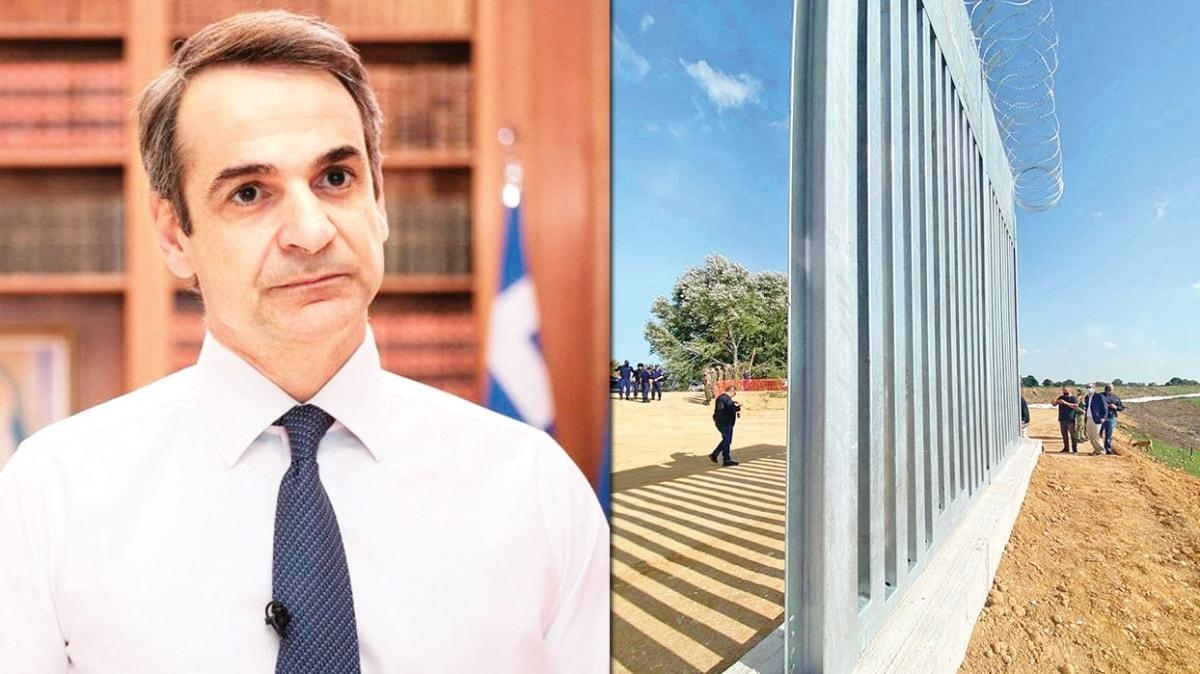 Miçotakis 'korku' duvarını teftiş etti