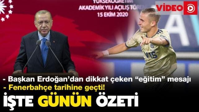 Başkan Erdoğan'dan eğitim öğretimde dikkat çeken reform mesajı