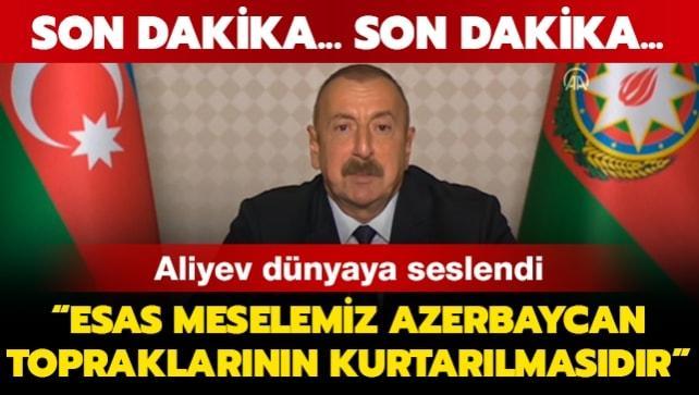 Azerbaycan Cumhurbaşkanı Aliyev konuşuyor