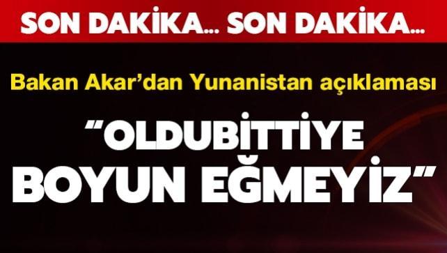 Bakan Akar'dan Türkiye-Yunanistan görüşmeleri ile ilgili önemli açıklama