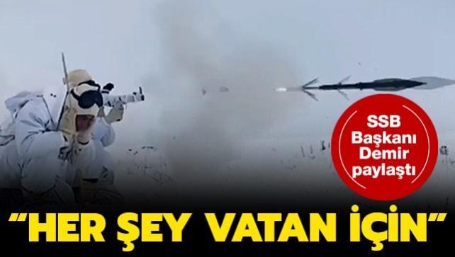 Savunma Sanayii Başkanı Demir'den heyecanlandıran görüntüler: Her şey vatan için