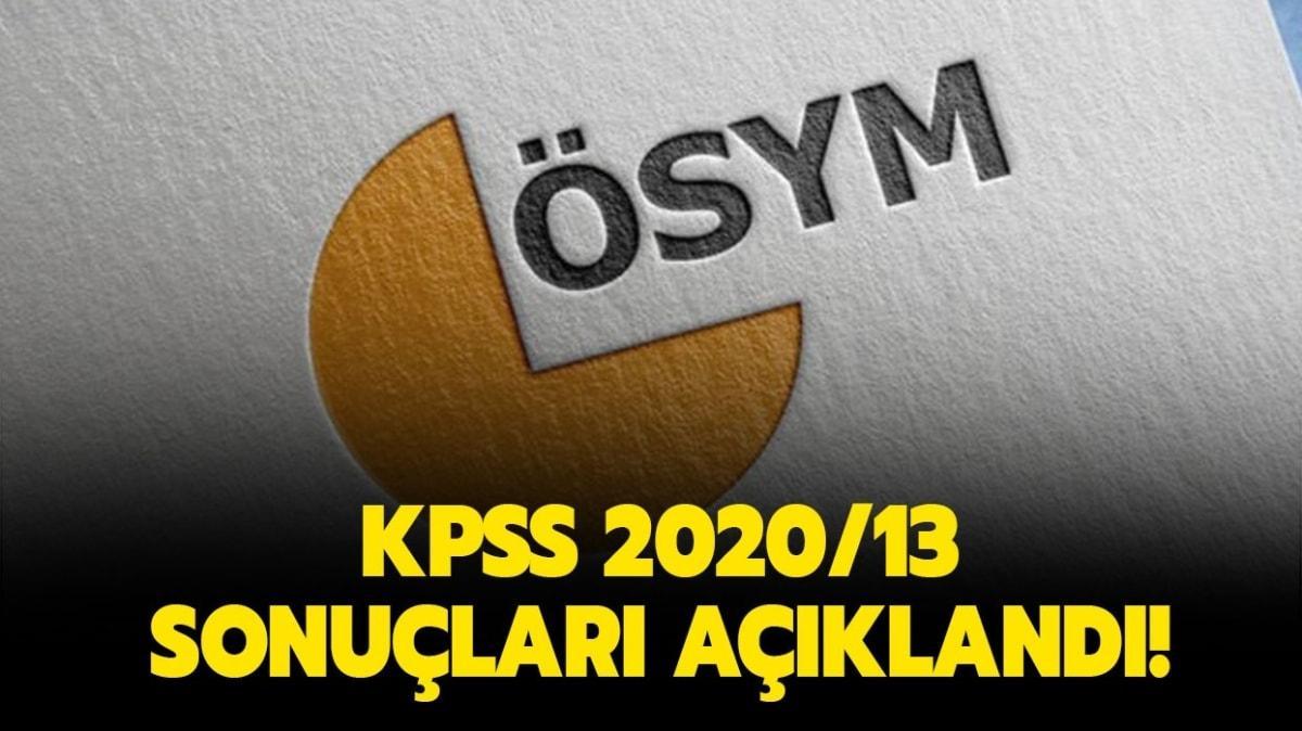 Karayolları sözleşmeli personel sonuçları sorgulama ekranı: KPSS-2020/13 sonuçları açıklandı!